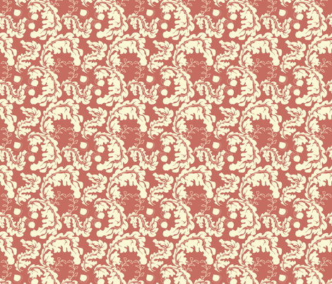 Leaves___Acorns_Terra_Cotta fabric by lana_gordon_rast_ on Spoonflower - custom fabric