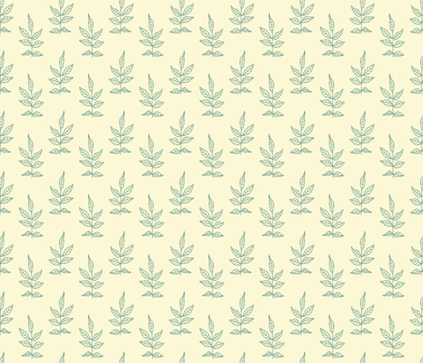 Leaves_Soft Aqua fabric by ©_lana_gordon_rast_ on Spoonflower - custom fabric