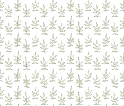 Leaves_Green fabric by ©_lana_gordon_rast_ on Spoonflower - custom fabric