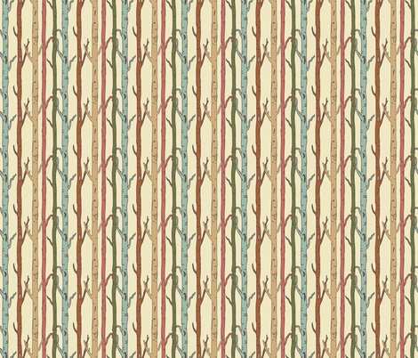 birches fabric by ©_lana_gordon_rast_ on Spoonflower - custom fabric