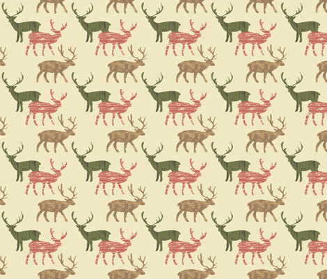 Deer fabric by lana_gordon_rast_ on Spoonflower - custom fabric