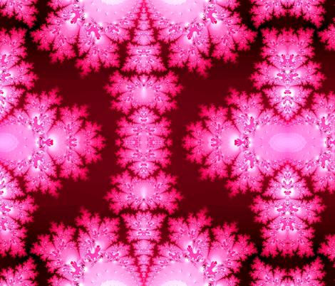 Fractal:  Pink Frost fabric by artist4god on Spoonflower - custom fabric