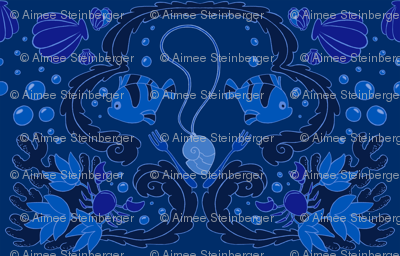 Under the Sea Damask