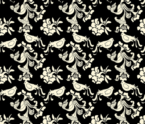 Hannah_La_Chance_Birds fabric by ©_lana_gordon_rast_ on Spoonflower - custom fabric