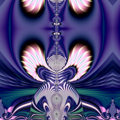 Fractal: Pink and Blue Guardian Angels