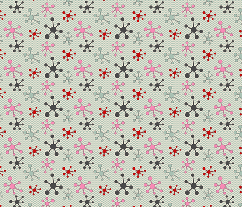 Atomic chevron fabric by cjldesigns on Spoonflower - custom fabric