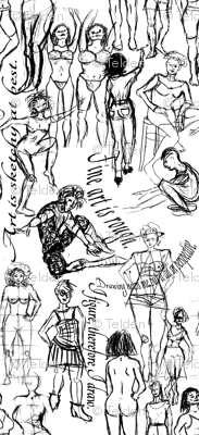 Figure Drawing Town - Black and White