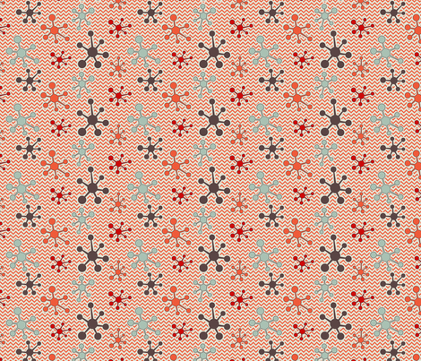 Atomic chevron orange fabric by cjldesigns on Spoonflower - custom fabric