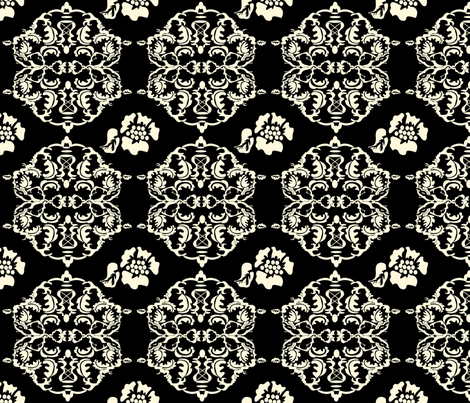 Hannah_La_Chance__Damask_ fabric by ©_lana_gordon_rast_ on Spoonflower - custom fabric