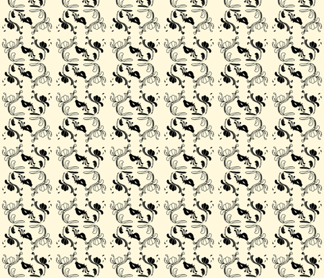 Hannah_la_Chance_Birds_2 fabric by ©_lana_gordon_rast_ on Spoonflower - custom fabric