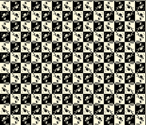 Hannah_La_Chance_checks fabric by ©_lana_gordon_rast_ on Spoonflower - custom fabric