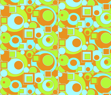 Circles and Squares fabric by wittythings on Spoonflower - custom fabric