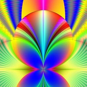 Fractal:  Electric Rainbow Orb