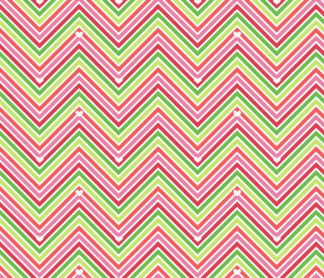 Chevron Hearts - Summertime Fun! - Watermelon - © PinkSodaPop 4ComputerHeaven.com