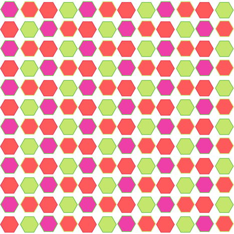 Hexadots! - Summertime Fun! - Watermelon - © PinkSodaPop 4ComputerHeaven.com