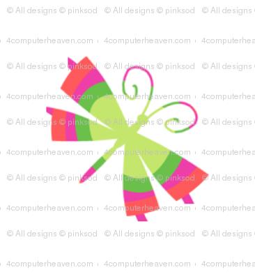 Rainbow Butterfly! - Summertime Fun! - Watermelon - © PinkSodaPop 4ComputerHeaven.com