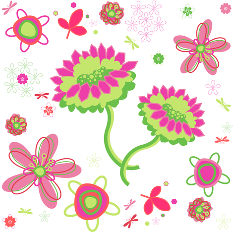 Fancy Garden Floral! - Summertime Fun! - Watermelon - © PinkSodaPop 4ComputerHeaven.com