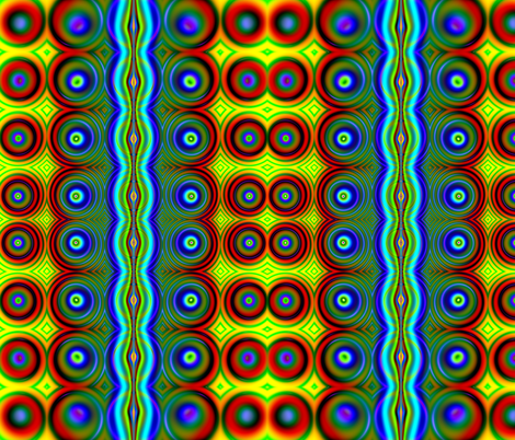 Fractal: Neon Dots Candy fabric by artist4god on Spoonflower - custom fabric