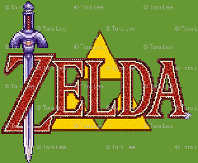 Zelda_Logo_Inspired_Fabric