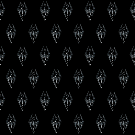 Skyrim_symbol_inspired fabric by craftelle on Spoonflower - custom fabric