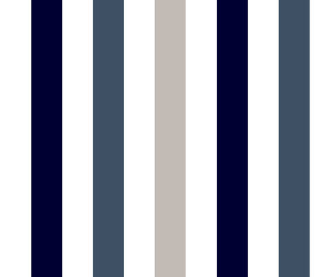 stripe indigo fabric by paragonstudios on Spoonflower - custom fabric