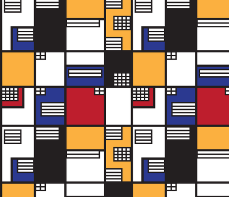 If Mondrian was an Architect - Large fabric by knittingand on Spoonflower - custom fabric
