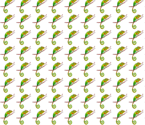 chameleon in white fabric by cherryjam on Spoonflower - custom fabric