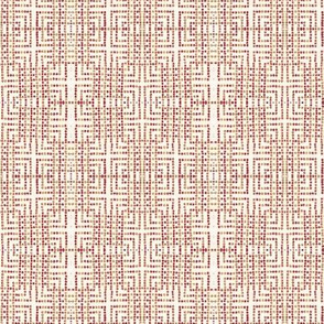 edo bead - white, pink, red, beige