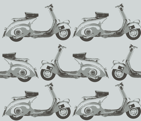 Scooter fabric by ttpie on Spoonflower - custom fabric