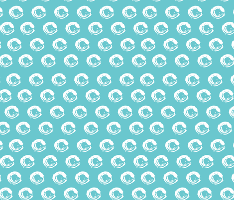 circles on blue fabric by kociara on Spoonflower - custom fabric