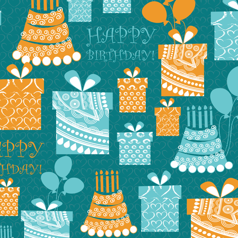 happy birthday! fabric by kociara on Spoonflower - custom fabric