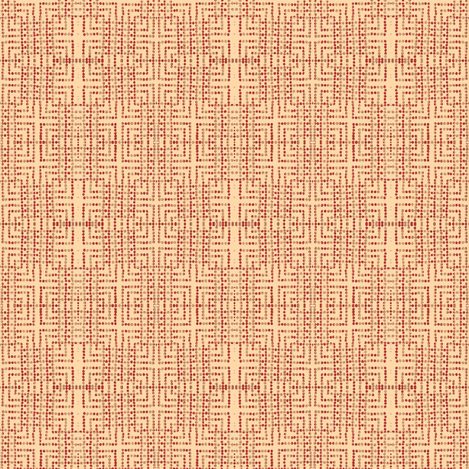 edo bead - pink, red, beige fabric by materialsgirl on Spoonflower - custom fabric