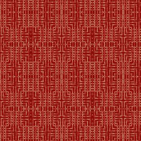 edo bead - red, pink fabric by materialsgirl on Spoonflower - custom fabric