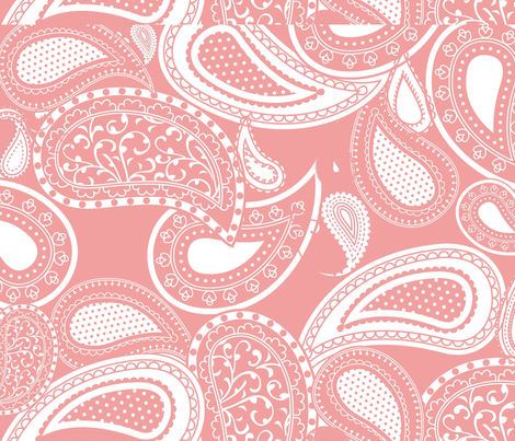Paisley Pink & White