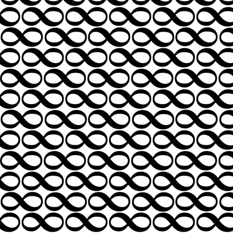 serenity infinity B&W fabric by weavingmajor on Spoonflower - custom fabric