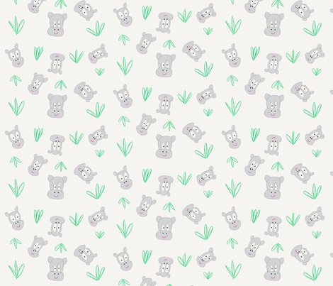 hippos fabric by staceyoverseas on Spoonflower - custom fabric