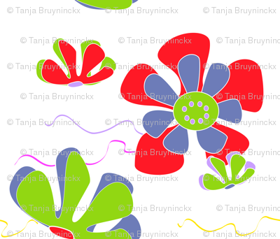 flower ocean red green blue 2