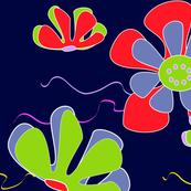 dark ocean flower