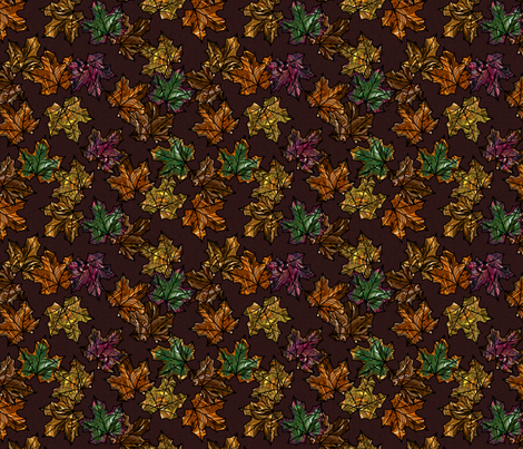 Autumn Leaves fabric by modernmarblingdesign on Spoonflower - custom fabric