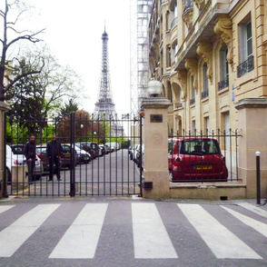 Private Property, with Eiffel Tower