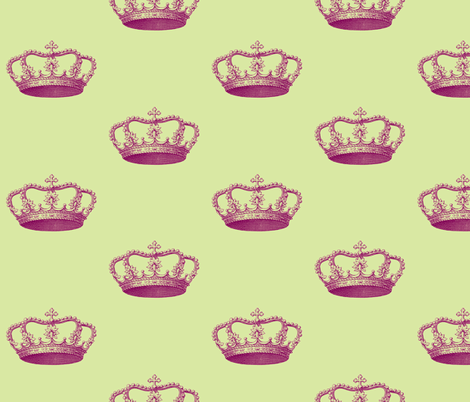 Magenta Crown  fabric by walkwithmagistudio on Spoonflower - custom fabric