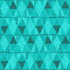 Teal Diamonds Textured