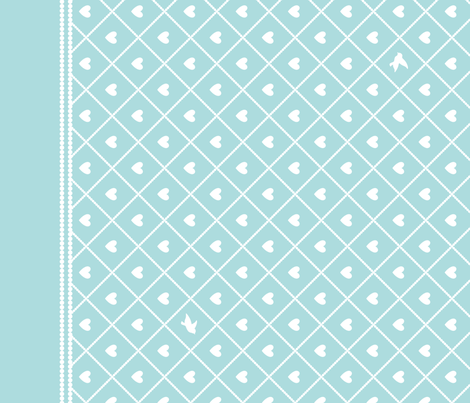 Never Far Away - Border Fabric (color: sugar ice) fabric by penina on Spoonflower - custom fabric