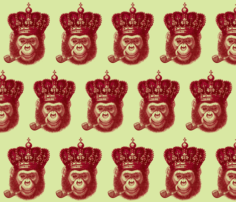 Monkey King fabric by walkwithmagistudio on Spoonflower - custom fabric