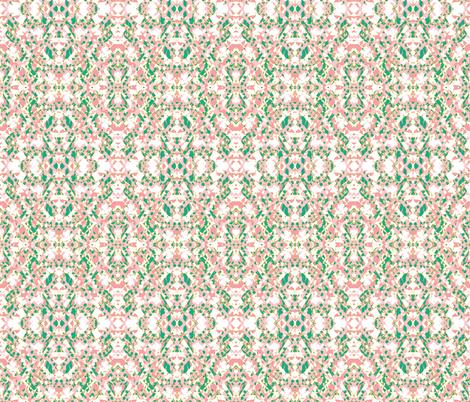 Pink Climbing Roses Chintz 2 fabric by susaninparis on Spoonflower - custom fabric