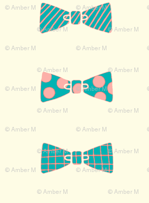 Bow tie collection in teal