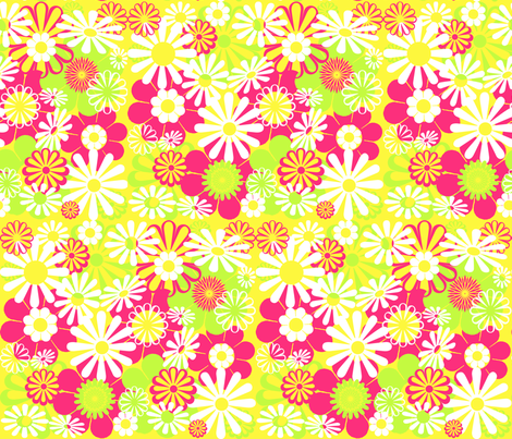 Mod Floral fabric by graceful on Spoonflower - custom fabric