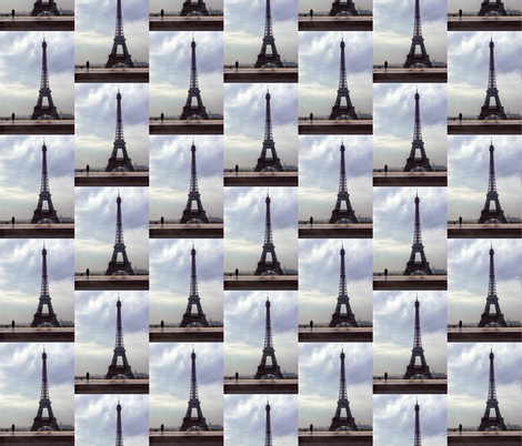 Eiffel Tower before Rain fabric by susaninparis on Spoonflower - custom fabric