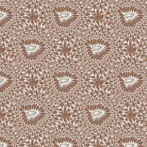 Fractal Flower - Tan