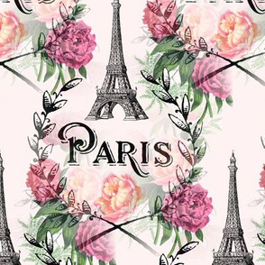 Paris Vintage Roses Pink Design